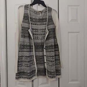 Free People patterned button cardigan
